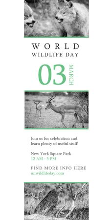 Plantilla de diseño de World Wildlife Day Animals in Natural Habitat Graphic