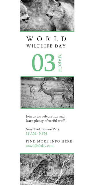 Plantilla de diseño de World Wildlife Day Animals in Natural Habitat Graphic
