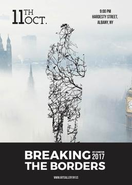 Breaking the borders exhibition poster