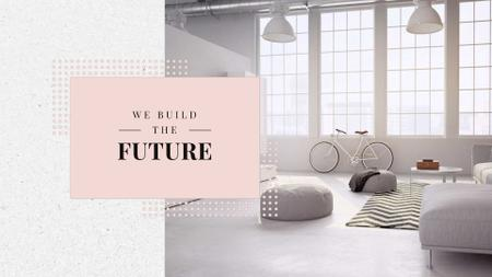 Cozy Home Interior Design in White Full HD video Design Template