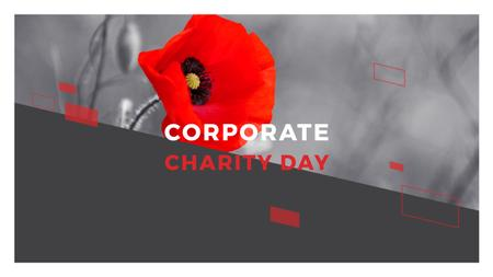 Plantilla de diseño de Corporate Charity Day Youtube