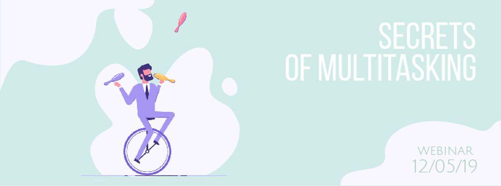 Businessman juggling on unicycle — Maak een ontwerp