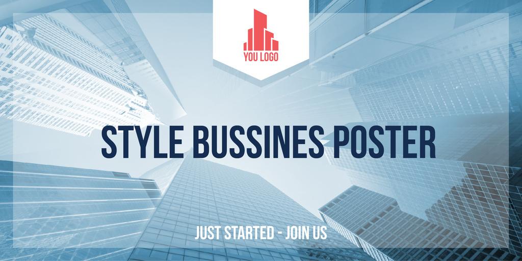 Style business poster - Bir Tasarım Oluşturun