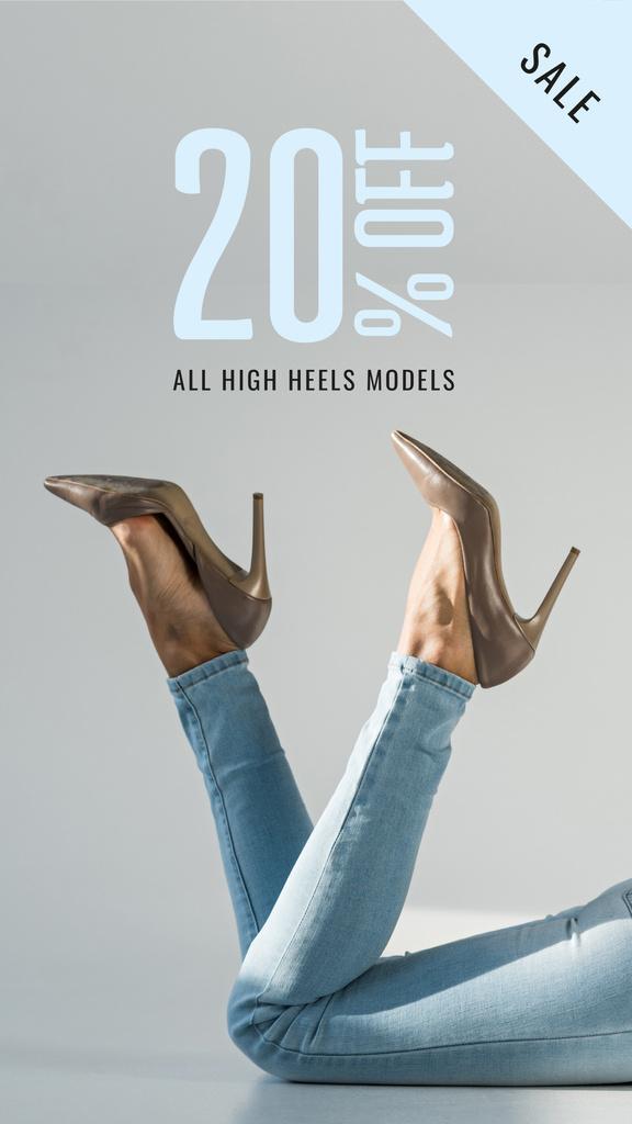 Fashion Sale Woman in Heeled Shoes — Créer un visuel