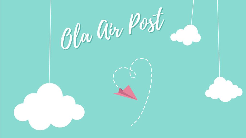 Valentine's Day Plane drawing Heart — ein Design erstellen