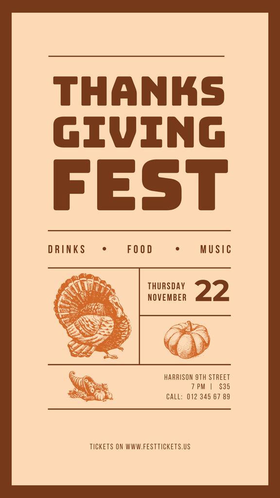 Thanksgiving fest poster — Créer un visuel