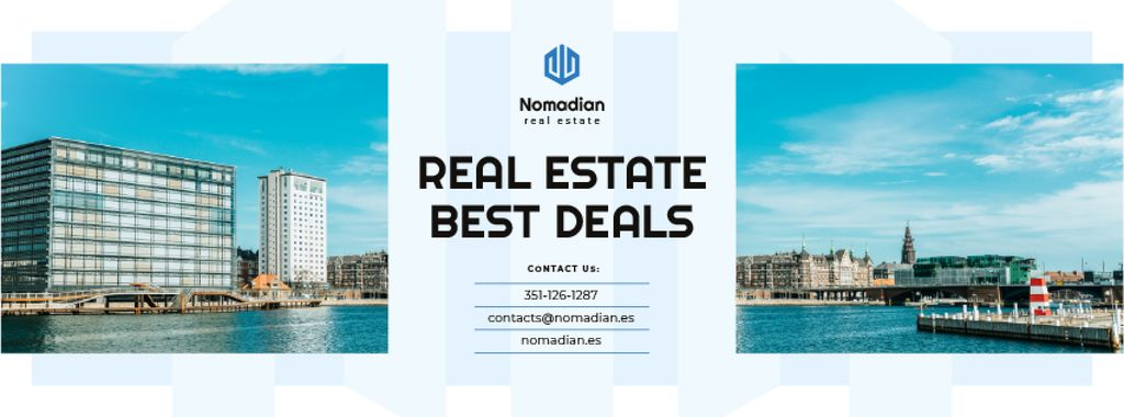 Real Estate Ad Modern City View — Modelo de projeto