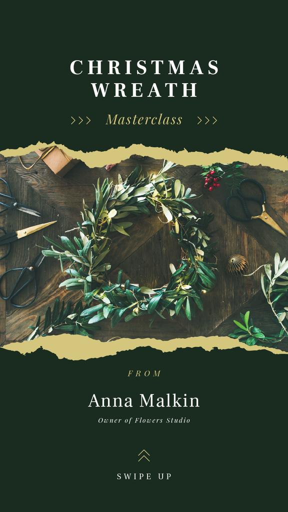 Shiny Christmas wreath — Create a Design