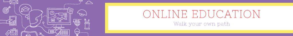 Online education banner — Создать дизайн
