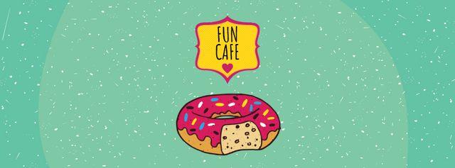 Ontwerpsjabloon van Facebook Video cover van Delicious pink donut