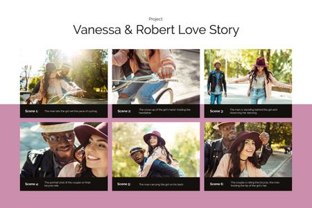 Modèle de visuel Love Story of Cute Couple on Bike - Storyboard