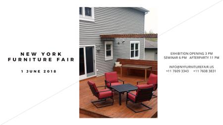 New York Furniture Fair announcement FB event cover Modelo de Design