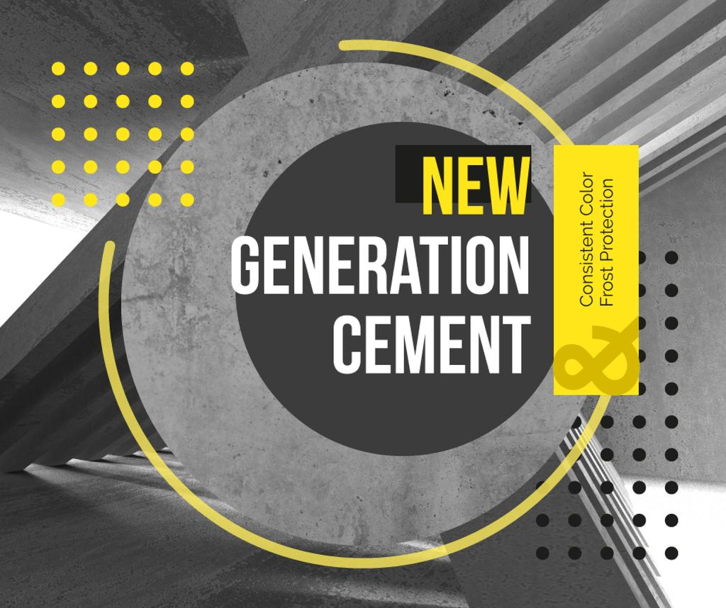 Concrete structure walls Facebook – шаблон для дизайна
