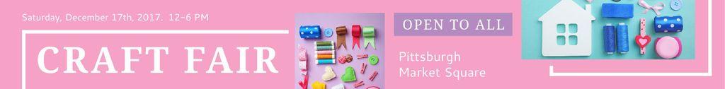 Craft fair in Pittsburgh Leaderboard – шаблон для дизайну