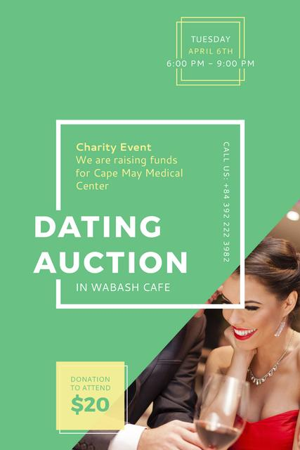 Smiling Woman at Dating Auction Tumblr – шаблон для дизайну