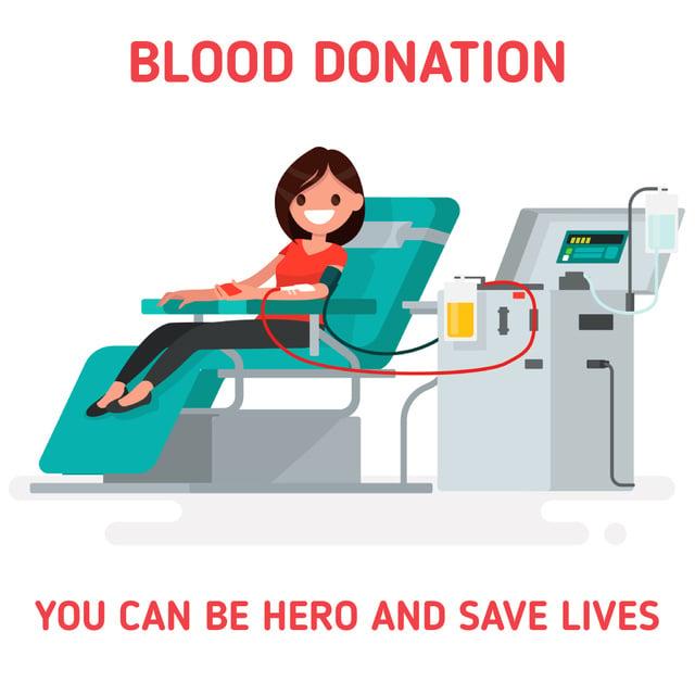 Woman donating blood Animated Post – шаблон для дизайна