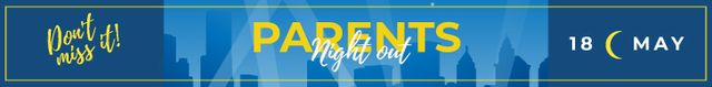 Night out Invitation City Silhouettes Leaderboard – шаблон для дизайна