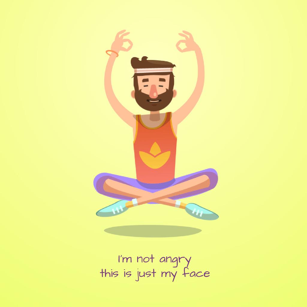 Hippy man meditating — Créer un visuel