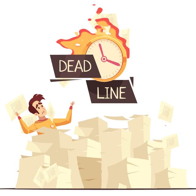 Man among piles of papers Animated Post – шаблон для дизайну