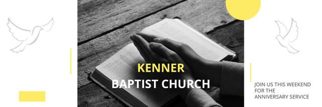 Modèle de visuel Kenner Baptist Church  - Twitter
