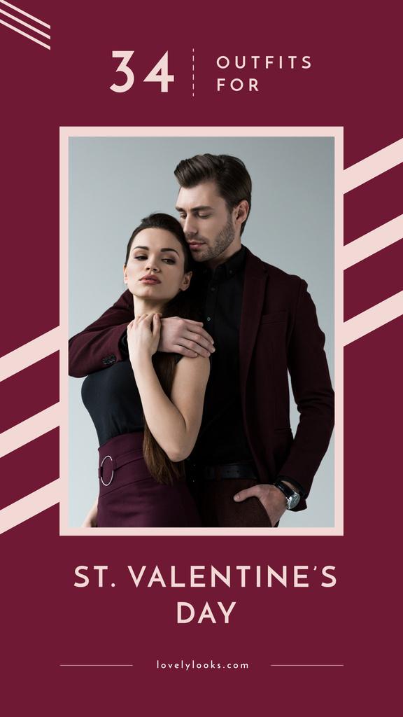 Couple in stylish outfits — Maak een ontwerp