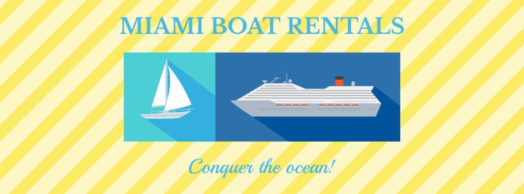 Boat rentals Offer on Yellow — Crea un design