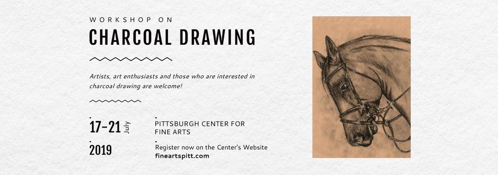 Drawing Workshop Announcement Horse Image Tumblr – шаблон для дизайна