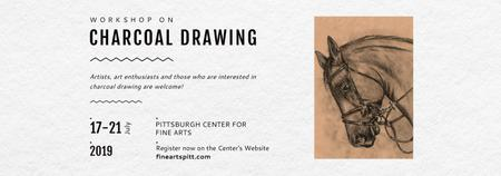 Drawing Workshop Announcement Horse Image Tumblr Modelo de Design