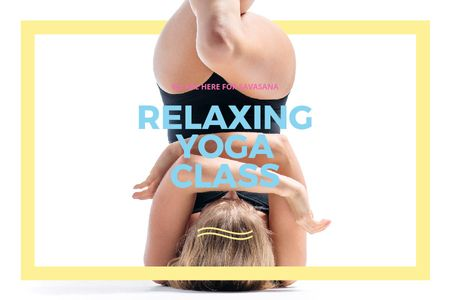 Relaxing yoga class Offer Gift Certificate Modelo de Design