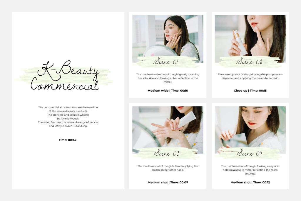 Young Woman applying cream — Crea un design