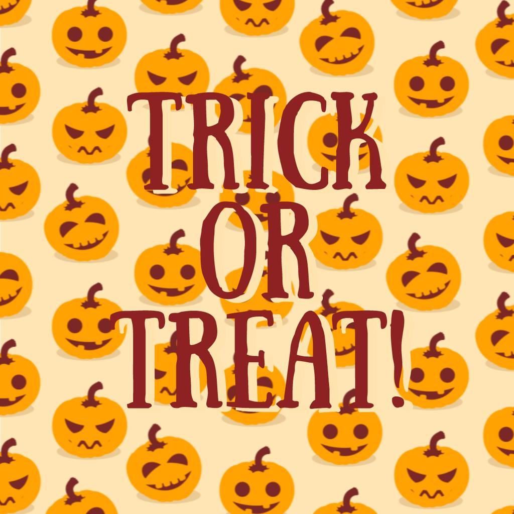 Trick Or Treat Halloween Pumpkins | Square Video Template — ein Design erstellen