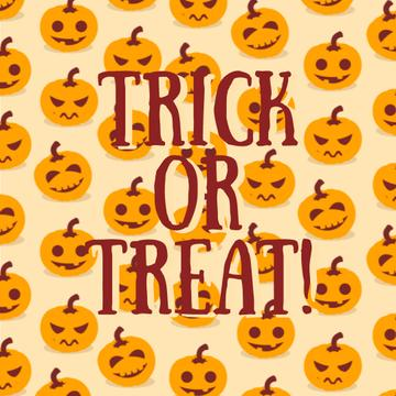 Trick Or Treat Halloween Pumpkins | Square Video Template