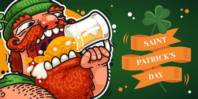 St. Patrick's day greeting card Image Modelo de Design