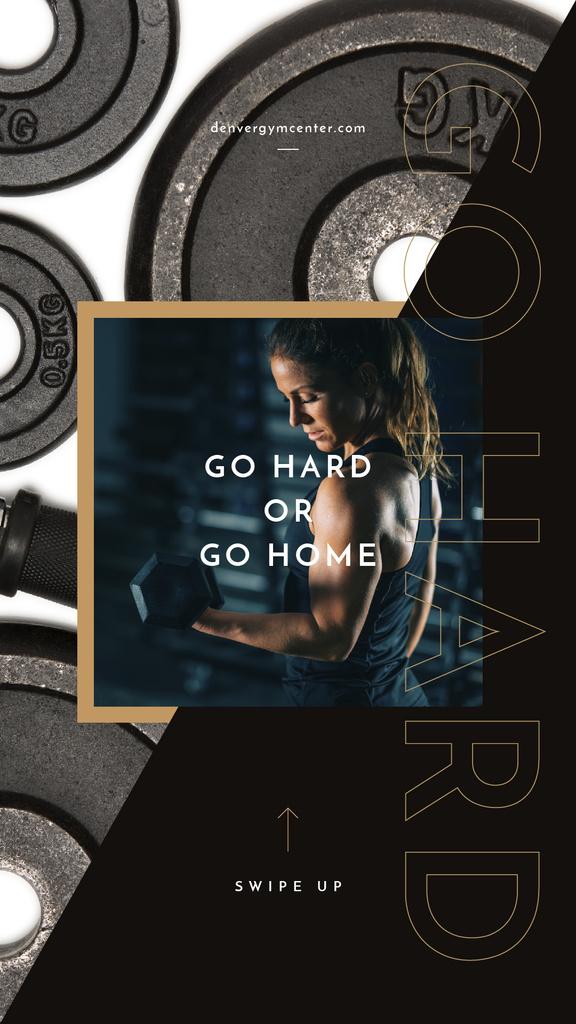 Woman lifting dumbbell — Crear un diseño