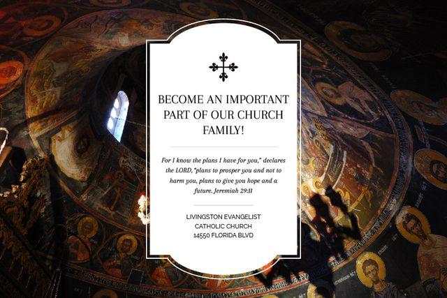 Plantilla de diseño de Livingston Evangelist Catholic Church Gift Certificate