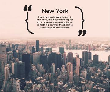 New York Inspirational Quote on City View