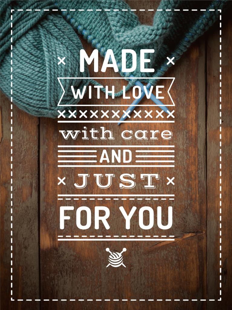 handmade workshop banner with yarn — Crear un diseño