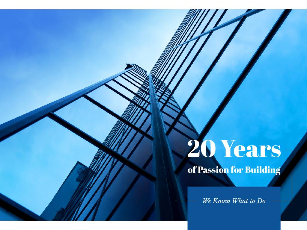 Years of passion for building — Créer un visuel