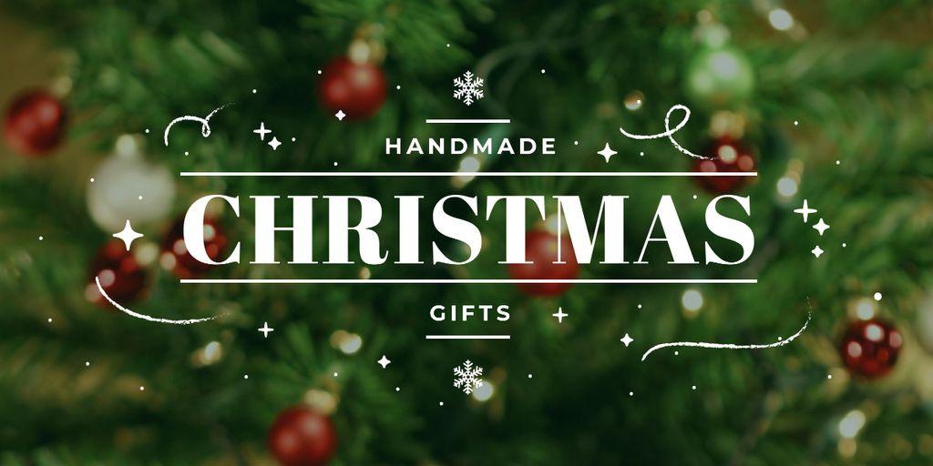 handmade Christmas gift poster Image – шаблон для дизайна