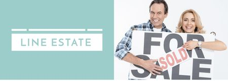 Couple by their new Home Facebook cover Design Template