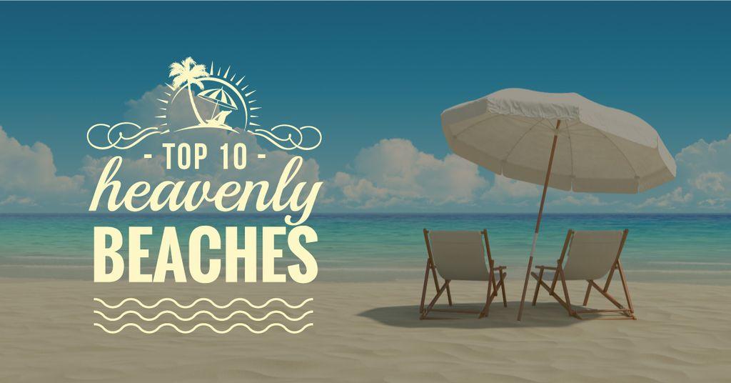 top 10 heavenly beaches poster — Crear un diseño