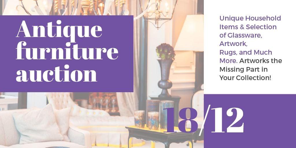 Antique Furniture Auction — Crear un diseño