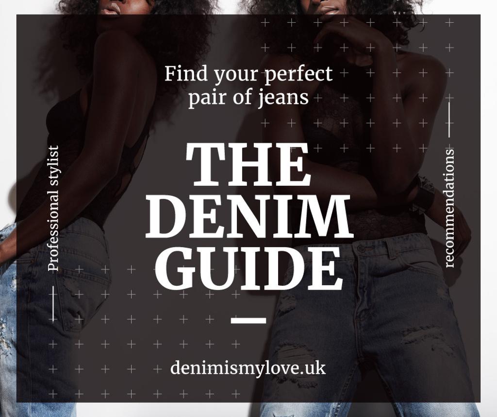 Denim guide poster — ein Design erstellen