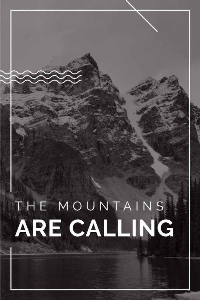 mountain hiking travel poster — Create a Design