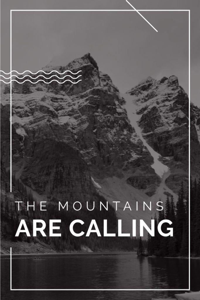mountain hiking travel poster — Créer un visuel