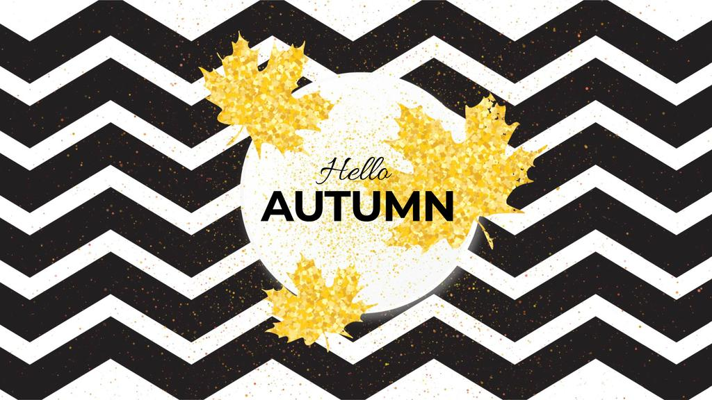 Zigzag pattern with falling leaves — Create a Design