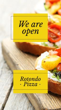 Template di design Restaurant promotion with Italian dish Instagram Story