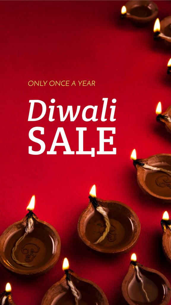 Happy Diwali Greeting Glowing Lamps — Створити дизайн