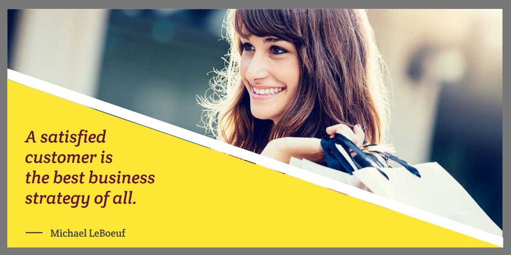 Template di design young woman with business quote Image
