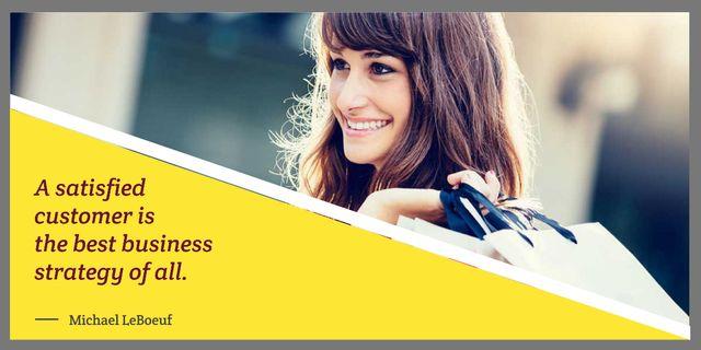 Modèle de visuel young woman with business quote - Image